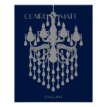 Great Gatsby chandelier wedding signing guest book