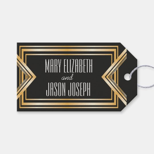 Great Gatsby inspired wedding favours tag