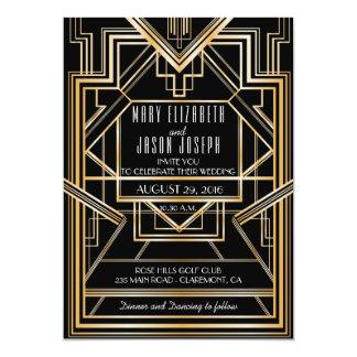 Great Gatsby Inspired Wedding invitation