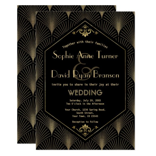 Great Gatsby Vintage Art Deco Wedding Invitation