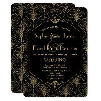Great Gatsby Vintage Art Deco Wedding Invitation