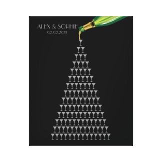 great gatsby wedding guest book champagne tower canvas prints