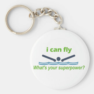 Great gift for the butterfly stroke swimmer! basic round button key ring