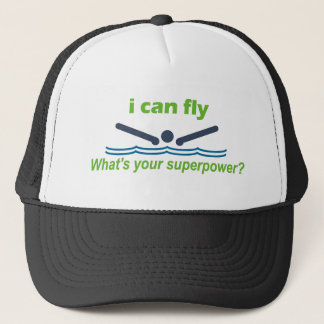 Great gift for the butterfly stroke swimmer! trucker hat