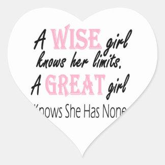 Great Girl Heart Sticker