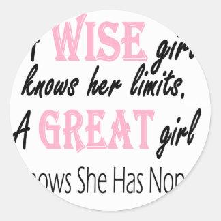Great Girl Round Sticker