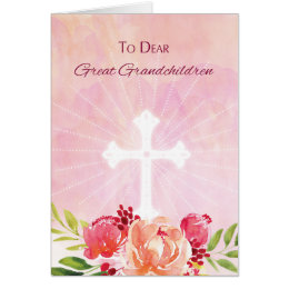 Grandchildren easter gifts gift ideas zazzle uk great grandchildren religious easter blessings card negle Image collections