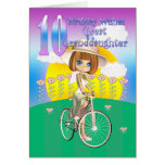Great Granddaughter 10th Birthday Card with little