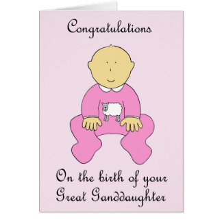 Great Granddaughter Congratulations Greeting Card