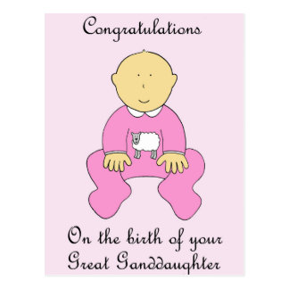 Great Granddaughter Congratulations Postcard