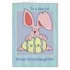 Great Granddaughter Ear-Resistible Easter Card