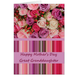 Great Granddaughter   Happy Mother's Day rose card