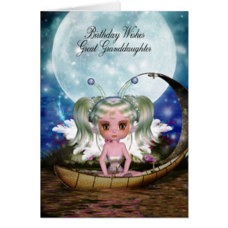Great Granddaughter Magical Water Fairy Birthday Greeting Card