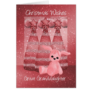 Great Granddaughter Sparkle Christmas Greeting Car Greeting Card