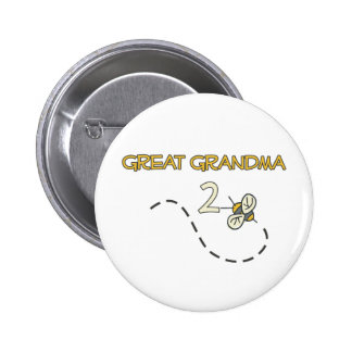 Great Grandma 2 Bee Pinback Buttons