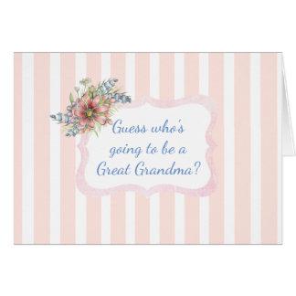 Great Grandma Announcement Card