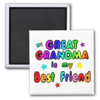 Great Grandma Best Friend Square Magnet