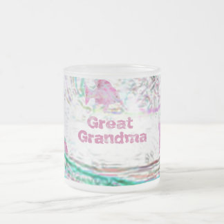 Great Grandma Frosted Glass Coffee Mug