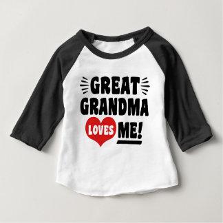 Great Grandma Loves Me Baby T-Shirt