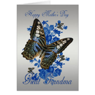 Great Grandma, Mother's Day Card With Butterflies