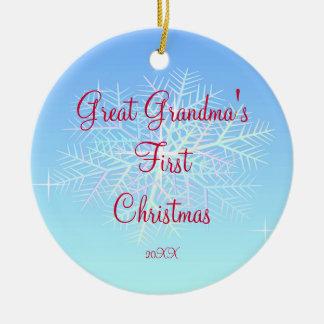 Great Grandma s First Christmas Snowflake Ornament
