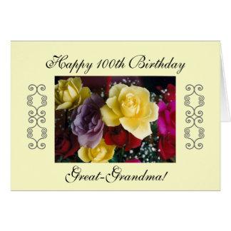 Great-grandma's 100th birthday card