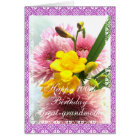 Great-grandma's 100th birthday flower bouquet card