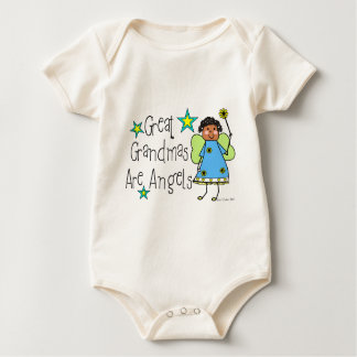 Great Grandmas Are Angels Gifts (Afro-American) Baby Bodysuit