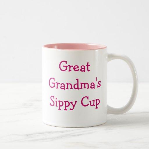 Great grandma's sippy cup coffee mug