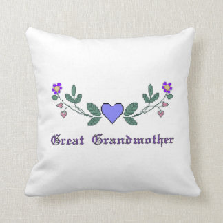 Great Grandmother Cross Stitch Print Pillow Cushion