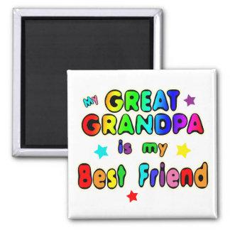 Great Grandpa Best Friend Square Magnet