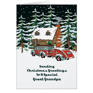 Great Grandpa Christmas Greetings Greeting Card