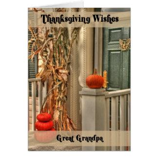 Great Grandpa Happy Thanksgiving Greeting Card