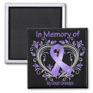 Great-Grandpa - In Memory Heart Hodgkins Disease Magnet