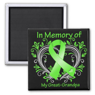 Great-Grandpa - In Memory Lymphoma Heart Magnets