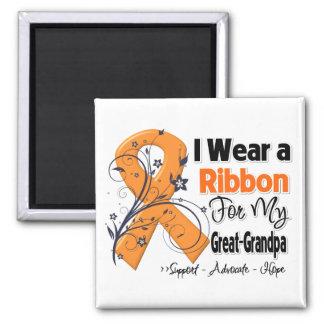 Great-Grandpa - Leukemia Ribbon Square Magnet