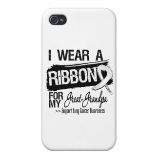 Great-Grandpa Lung Cancer Ribbon iPhone 4/4S Cover