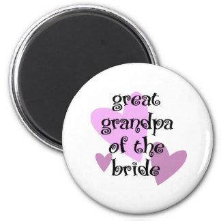 Great Grandpa of the Bride 6 Cm Round Magnet