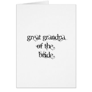 Great Grandpa of the Bride Greeting Card
