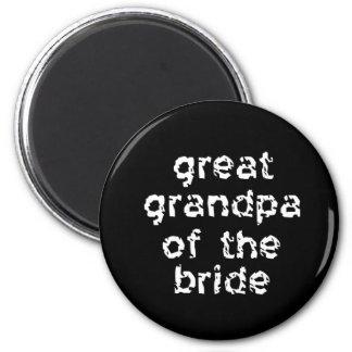 Great Grandpa of the Bride Refrigerator Magnets