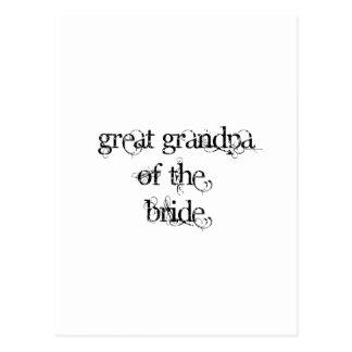 Great Grandpa of the Bride Postcard