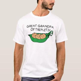 Great Grandpa of Triplets Pod T-Shirt