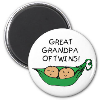 Great Grandpa of Twins Pod 6 Cm Round Magnet