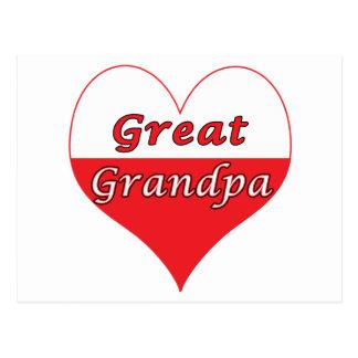 Great Grandpa Polish Heart Postcard
