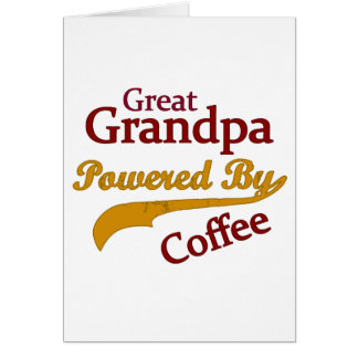 Great Grandpa Powered By Coffee Card