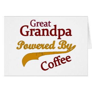 Great Grandpa Powered By Coffee Cards