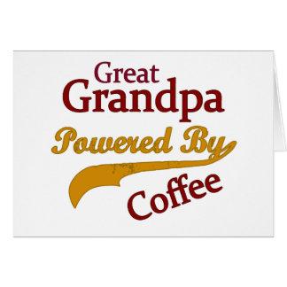 Great Grandpa Powered By Coffee Greeting Card