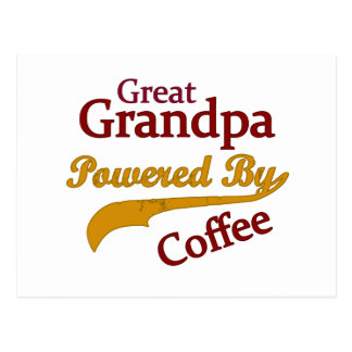 Great Grandpa Powered By Coffee Postcards