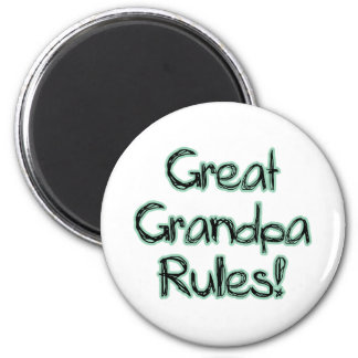 Great Grandpa Rules 6 Cm Round Magnet