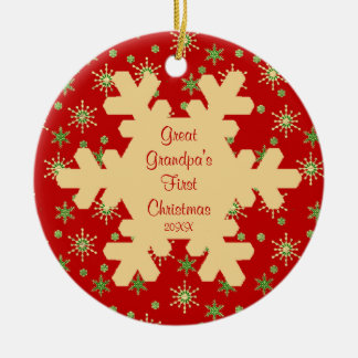 Great Grandpa s First Christmas Snowflake Ornament